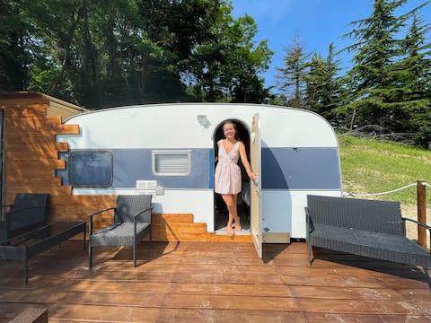 Agriturismo橄榄树景观大篷车小屋
