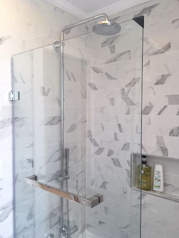 Master bath with rain shower