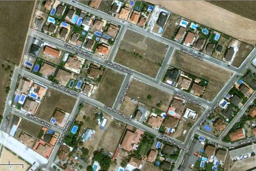 Barrio de viviendas unifamiliares.