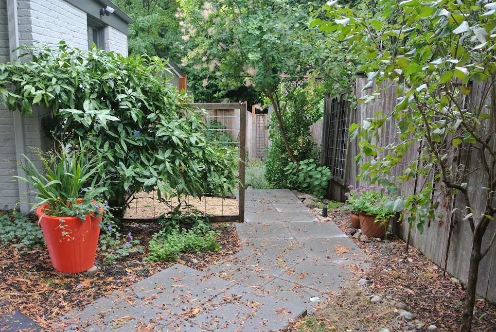 Free, off-street parking in our private driveway. Entrance to apartment is along the north side.
