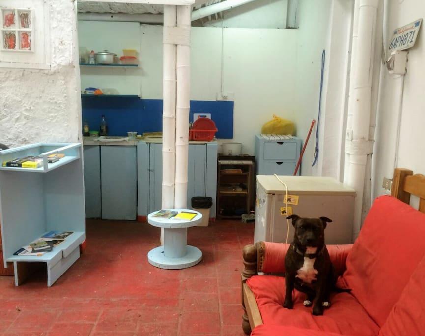La sala-cocina