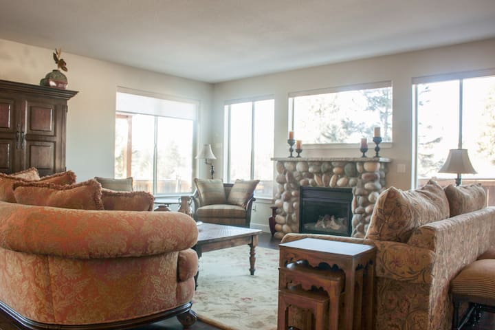 Relax with friends and family in the open plan living room