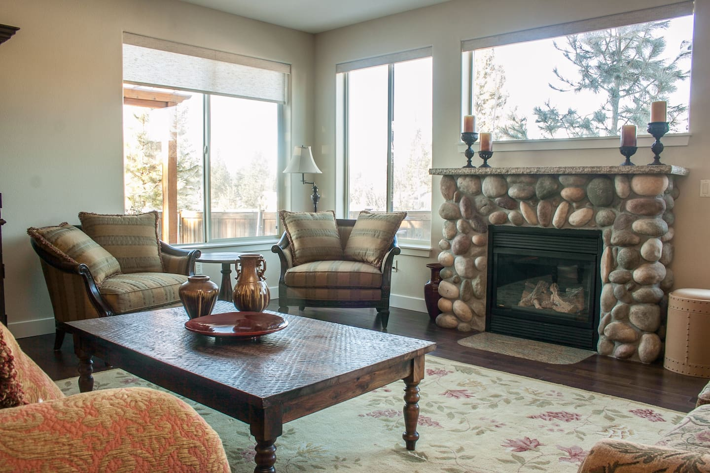 Gas fireplace and plenty of seating to enjoy time together
