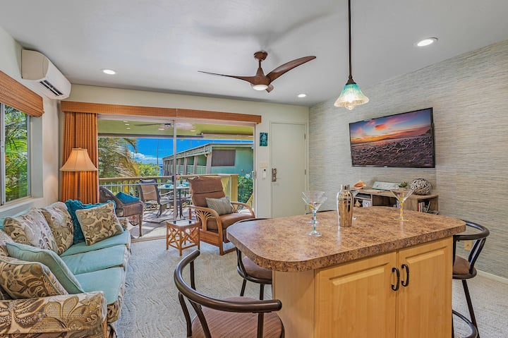 Ocean, Tropical Garden and Pool View at a Beach Front Property-Kihei Kai Unit 24