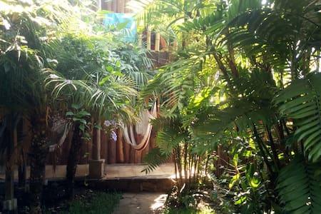 The Hummingbird Hostel (Room Katarina) Tzununa - Lake Atitlán - 통나무집