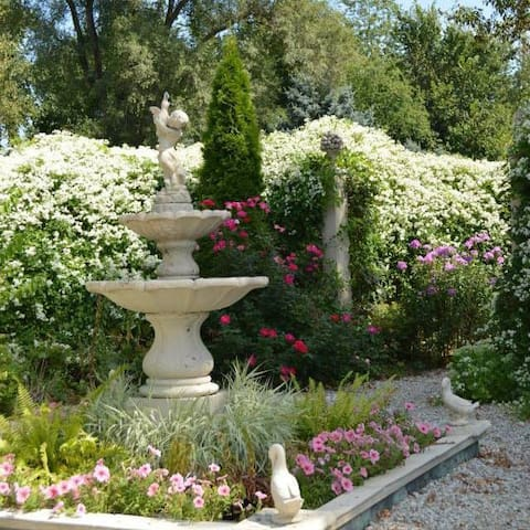 Just one of the amazing displays of beautiful blooms at the Weber House and Gardens.