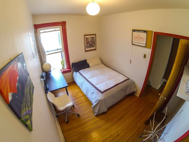 Comfy room in authentic, downtown house