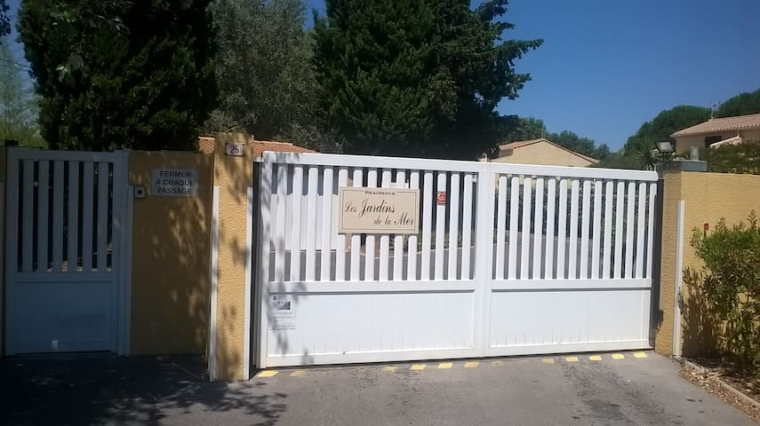 Secure entrance to residence