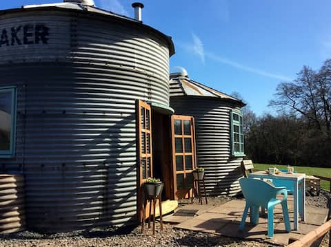 Grain Bin Living - Derrington Manor Farm