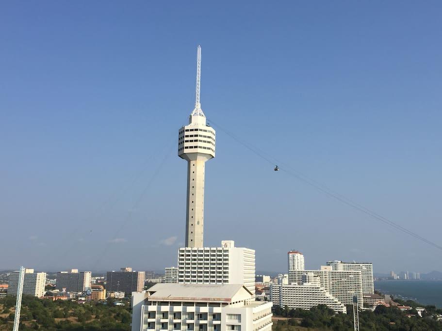 vue sur la Tour de Pattaya Park