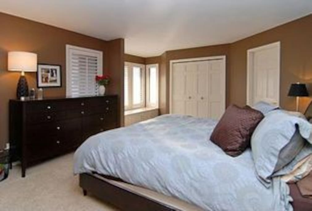 Huge Master Bedroom attached to walk in closet and large bathroom
