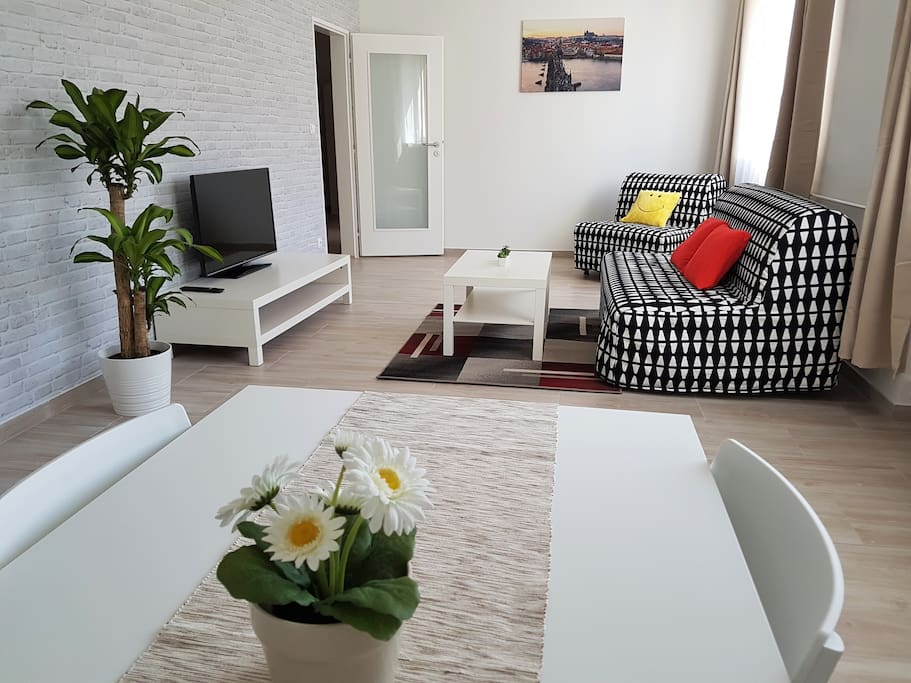 Spacious and bright living room