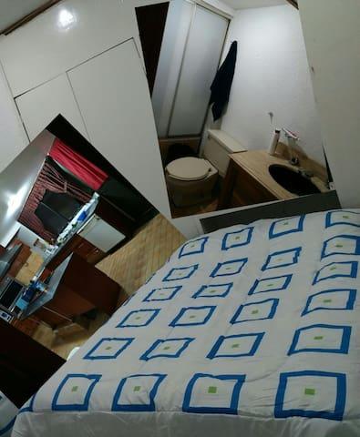 Acogedor alojamiento  con baño propio