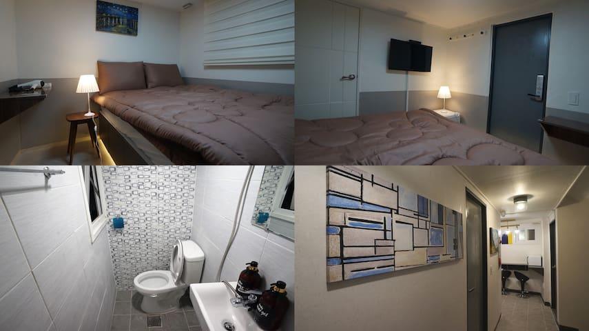 #103 Sinchon Sta 2mins, Hongdae 8mins Blue Mansion