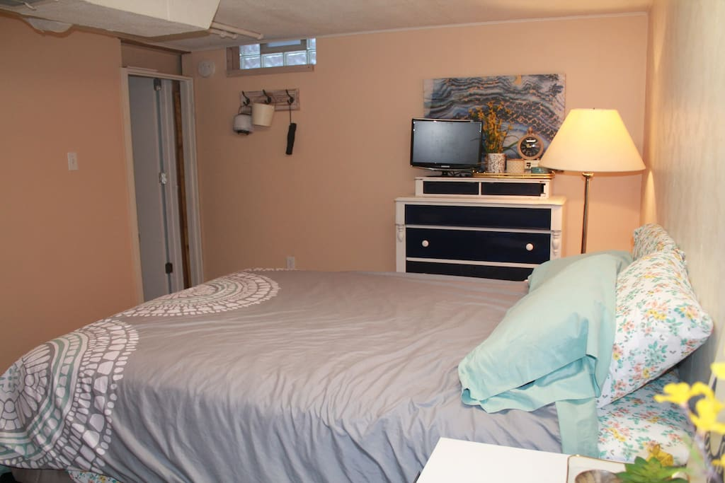 Guest bedroom (located in basement)