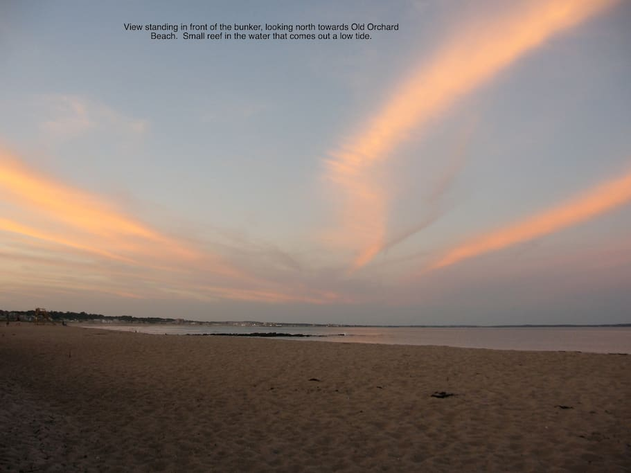 View standing in front of the bunker, looking north towards Old Orchard Beach