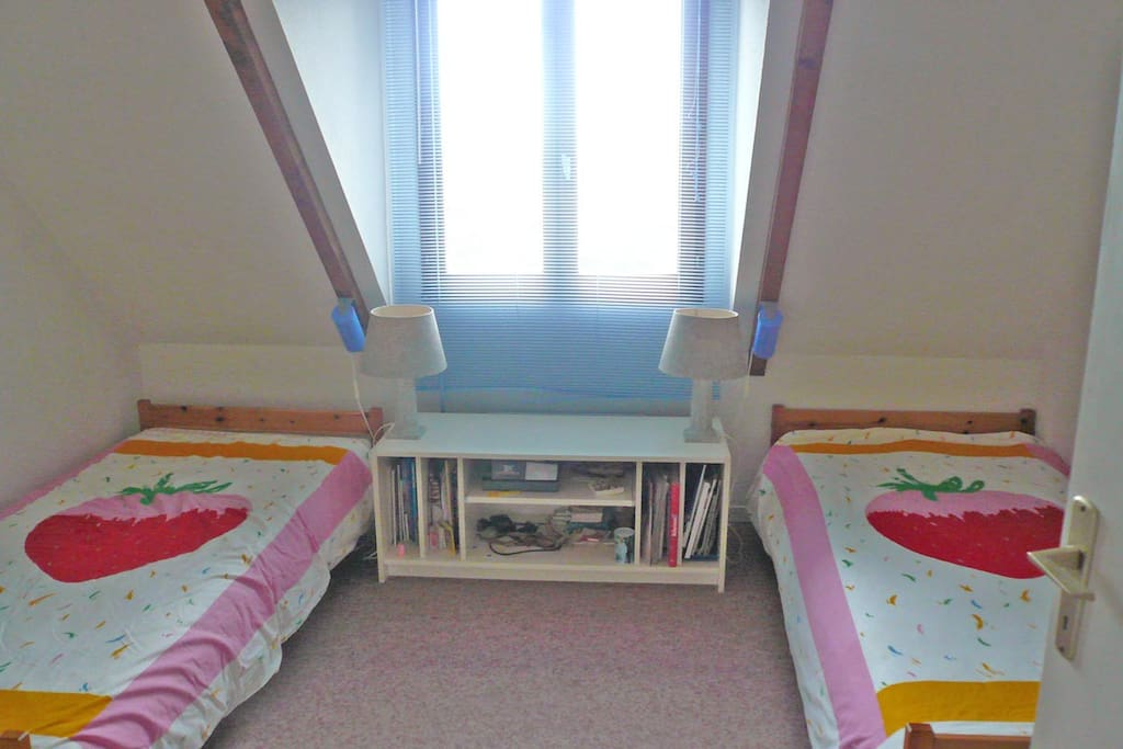 Two single beds in the second floor