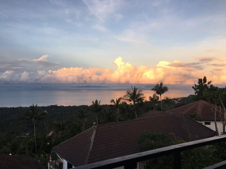 Panorama 1BR Bungalow-Pool+Sea View&Amazing Sunset