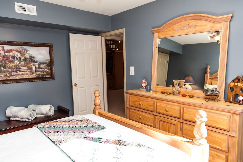 1st Queen Bedroom with large dresser