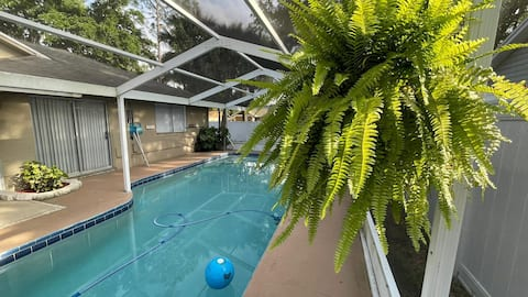Comfortable private room with pool and patio