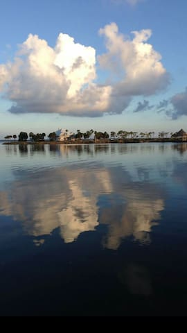 The view from our pier on Bayou Garcon at the entrance of Perdido Bay.