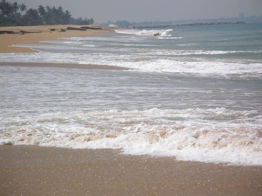 View of beach near the villa