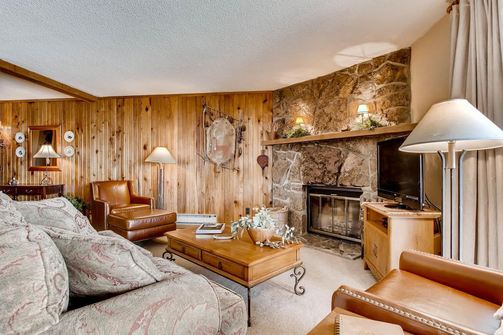 Woodburning fireplace and very well furnished