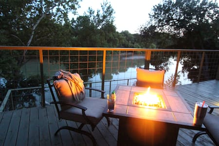 Riverfront 'River Bungalow' in Historic Bastrop!