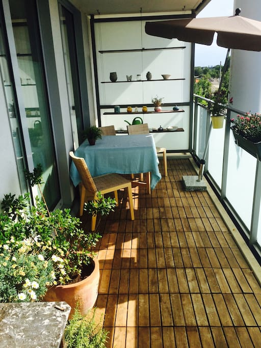 Balcony and sitting area