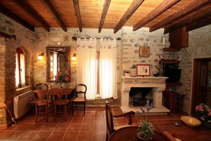 The sitting room-fireplace corner
