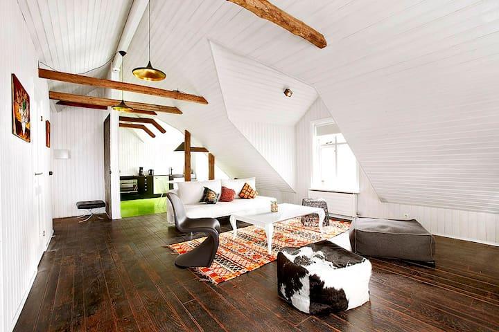 Downtown, Designer Attic Apartment - Reykjavik