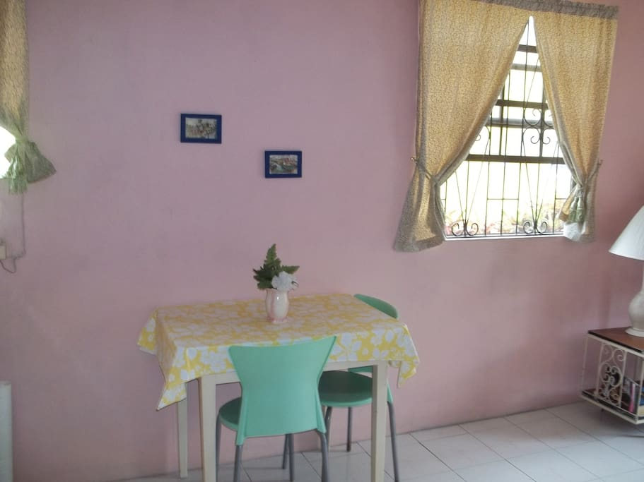 Part of dining and living room of Juliandra.