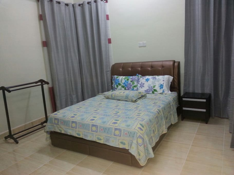 Queen size bed with matching mattress