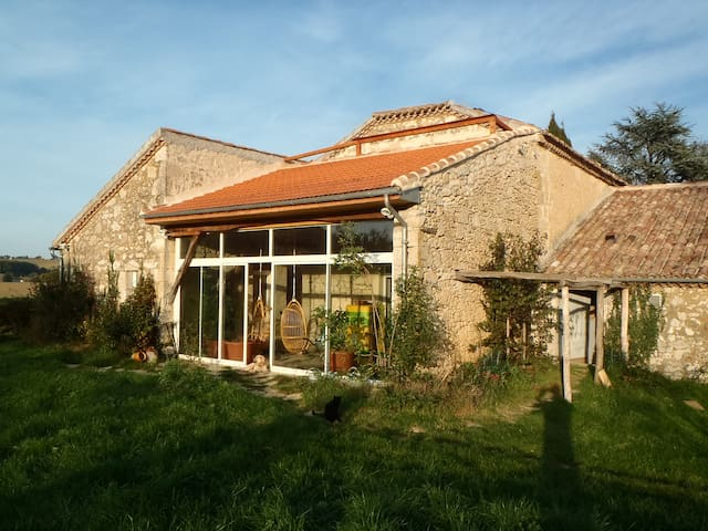 "21 p. B&B & self-catering cottage ""rural Gascony"" - Saint-Mézard - House"