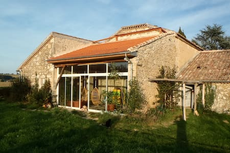 "21 p. B&B & self-catering cottage ""rural Gascony"" - Saint-Mézard - Haus"