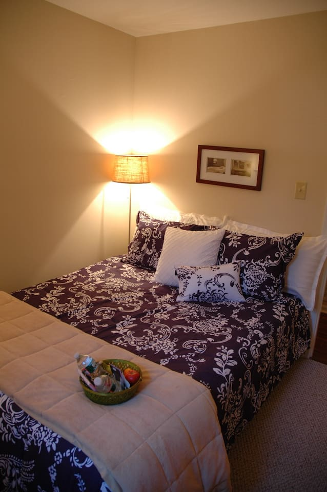 Private room with Queen Bed and luxurious bedding