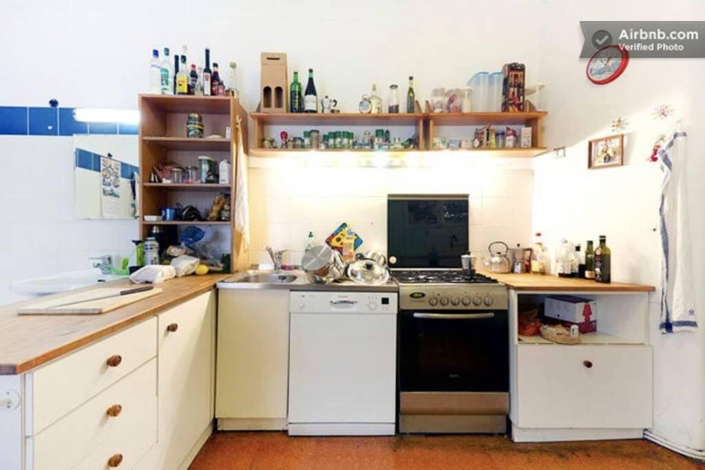 eine große Küche!