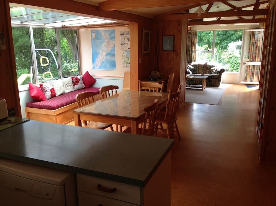 Through to Dining and Lounge from Kitchen