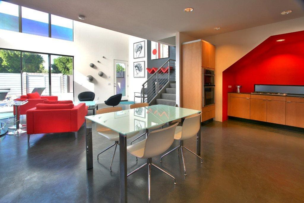 Open-Concept first floor living area.