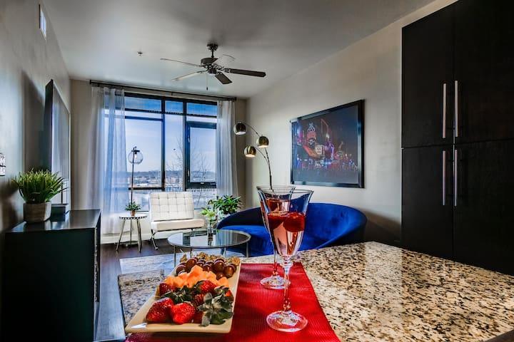 WHY settle for less? You deserve the best decor, unique art, a pool, gym, views!