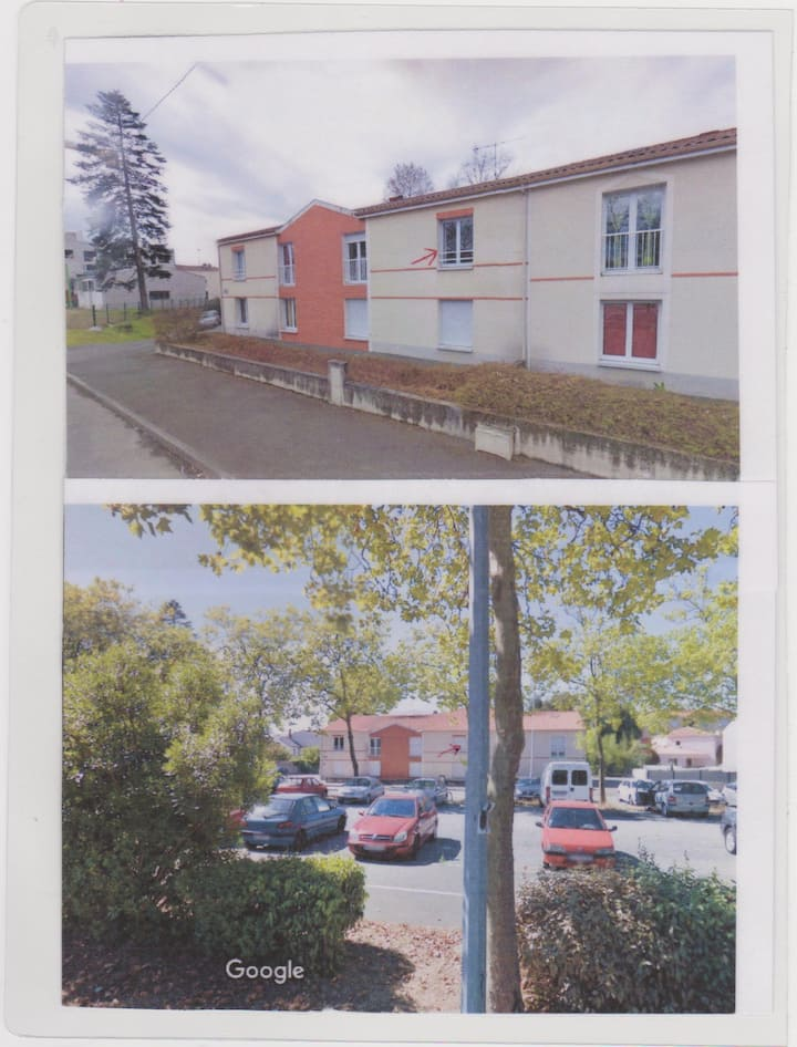 La Roche sur Yon :appartement vue sur nature