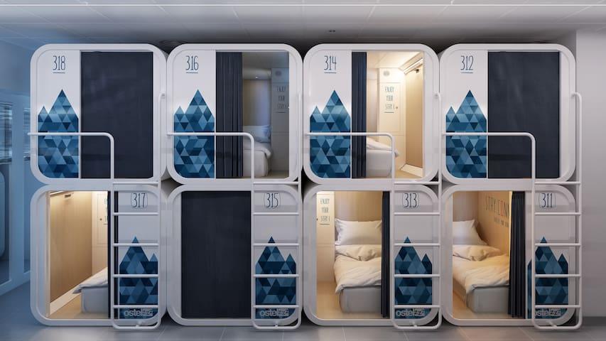 Posto letto standard con bagno in camera