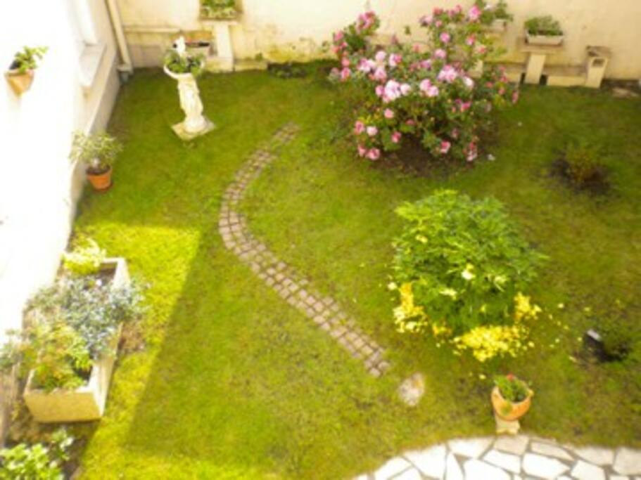 The garden from the hallway window