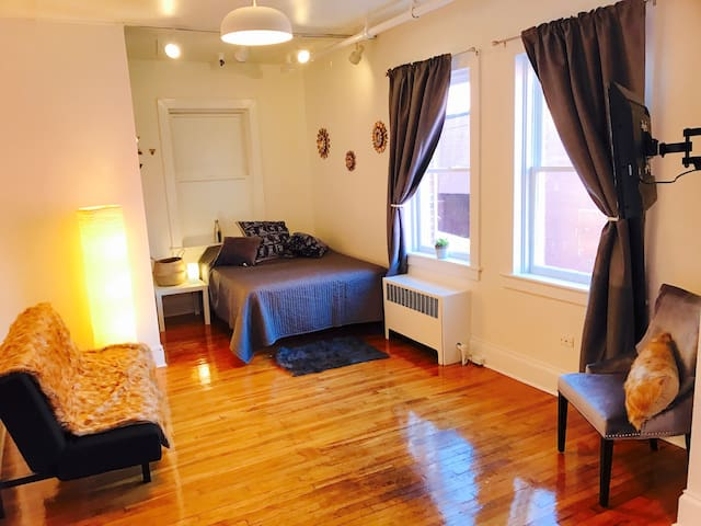 Elegant newly renovated apt on the Downtown Mall