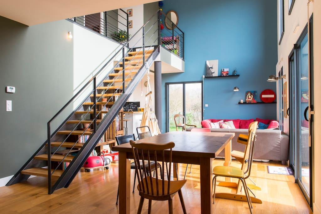 Maison d 39 architecte de 117m2 houses for rent in bouaye pays de la loire france - Maison architecte mark dziewulski ...