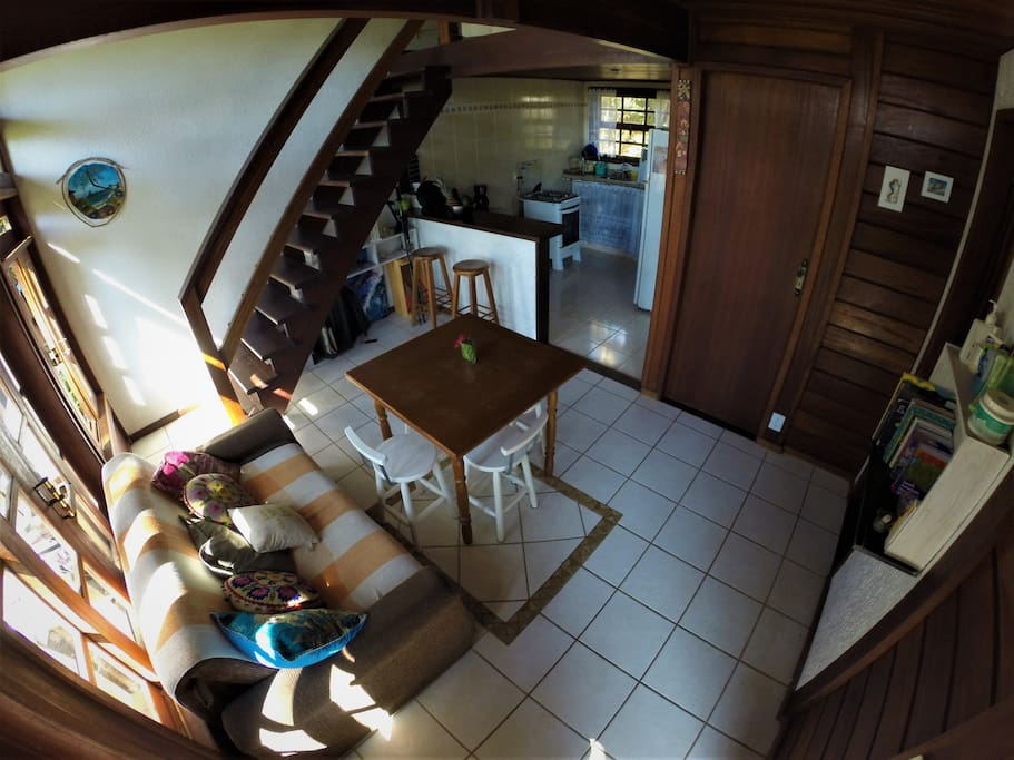Living room, kitchen on the back