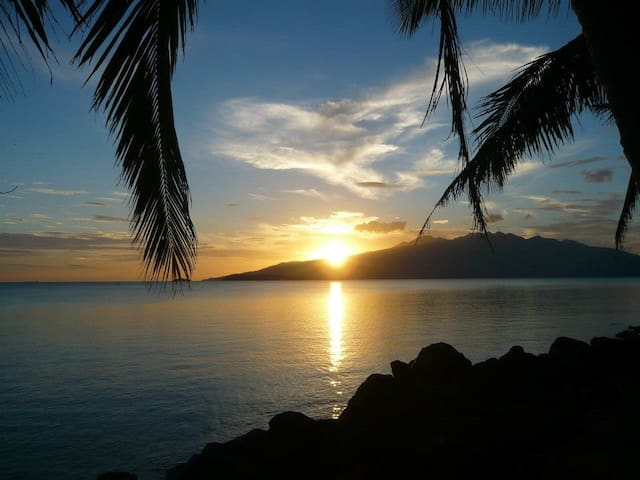 Beautiful sunset late afternoon❤U can watch sunset late afternoon or early in the morning.