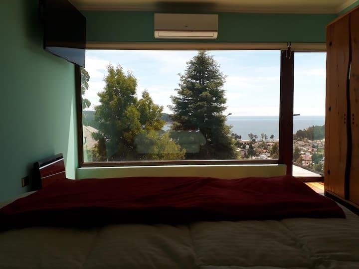 Habitación N° 1 en Suite con vista al mar.