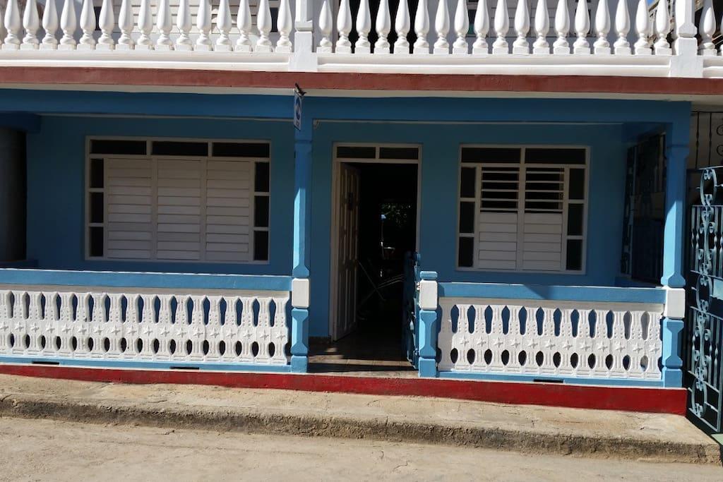 Nuevo Amanecer street facade