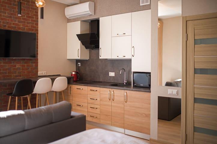 Квартира с уютным двориком в центре города